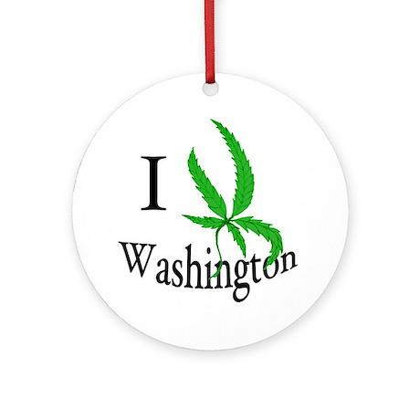 I cannabis Washington Ornament (Round)