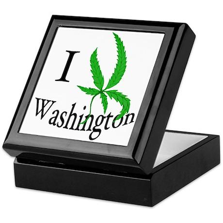 I cannabis Washington Keepsake Box