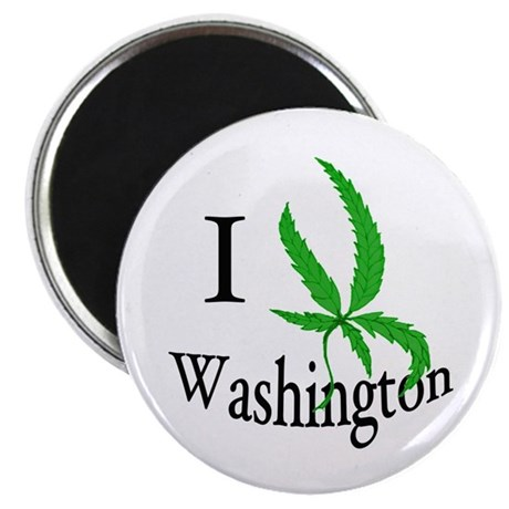 "I cannabis Washington 2.25"" Magnet (10 pack)"