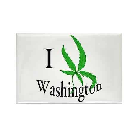 I cannabis Washington Rectangle Magnet (10 pack)