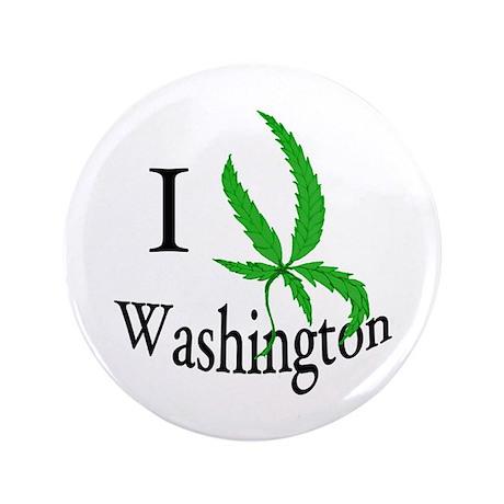 "I cannabis Washington 3.5"" Button"