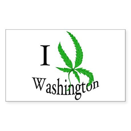 I cannabis Washington Sticker (Rectangle)
