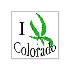 """I cannabis Colorado Square Sticker 3"""" x 3"""""""