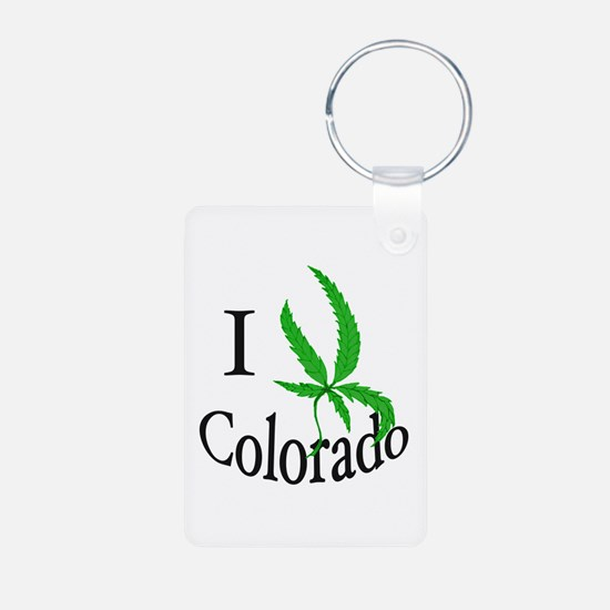I cannabis Colorado Keychains