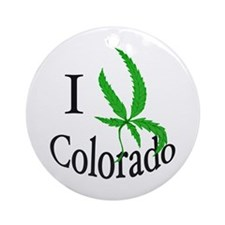 I cannabis Colorado Ornament (Round)