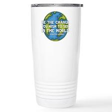 Be the Change - Earth - Green Vine Travel Mug