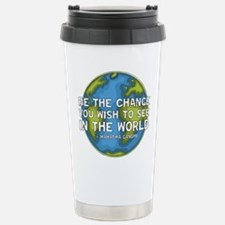 Be the Change - Earth - Green Vine Travel Mug