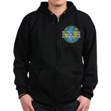 Be the Change - Earth - Green Vine Zip Hoodie