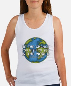 Be the Change - Earth - Green Vine Women's Tank To