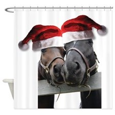 Christmas Horses In Love Shower Curtain