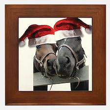 Christmas Horses In Love Framed Tile