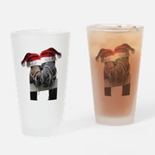 Christmas Horses In Love Drinking Glass