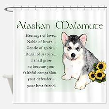 Alaskan Malamute Puppy Shower Curtain