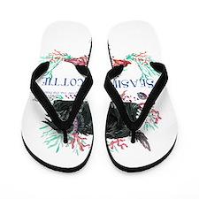Seashore Scottie Island Dog Flip Flops
