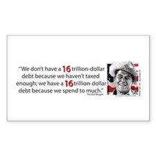 Ronald Reagan - on the 16 Trillion Debt Decal