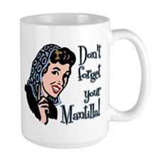 MantillaBlueOutline Mugs