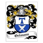 Ortmann Coat of Arms Small Poster