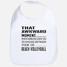 That Awkward Moment... Beach Voll Cotton Baby Bib
