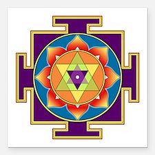 """Sri Ganesha Yantra Square Car Magnet 3"""" x 3"""""""