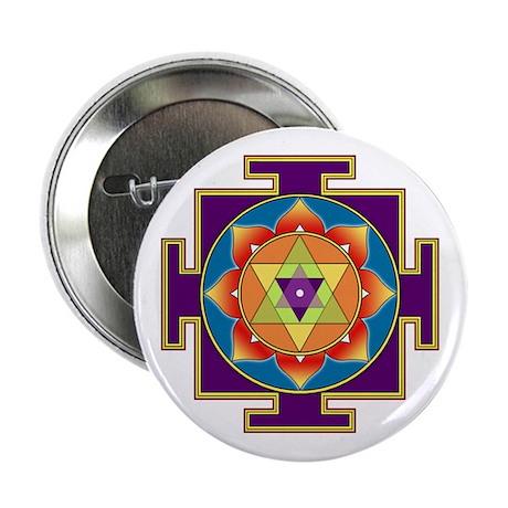 """Sri Ganesha Yantra 2.25"""" Button"""