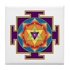 Sri Ganesha Yantra Tile Coaster