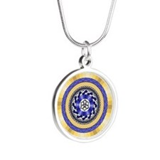Colors of New Years Silver Round Necklace