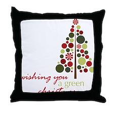 A Green Christmas Throw Pillow