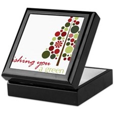 A Green Christmas Keepsake Box