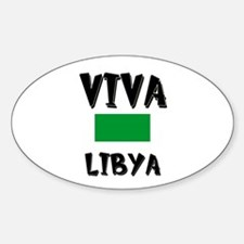 Viva Libya Oval Decal