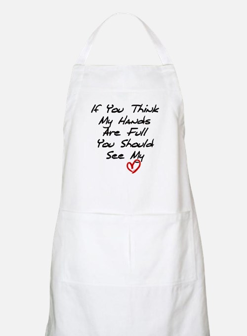 Heart is Full BBQ Apron