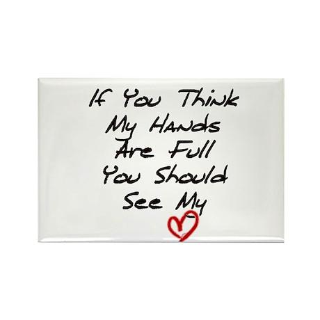 Heart is Full Rectangle Magnet