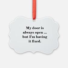 Open Door Policy Ornament