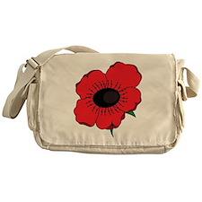 Poppy Flower Messenger Bag