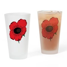 Poppy Flower Drinking Glass