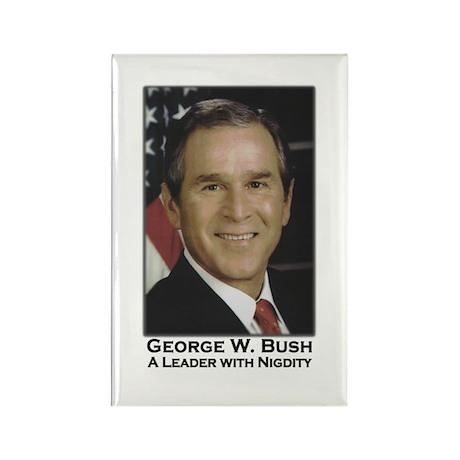 Bush Nigdity Speech Humor Rectangle Magnet (10 pac