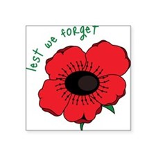 """Lest We Forget Square Sticker 3"""" x 3"""""""