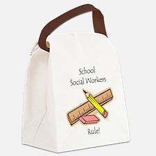 Schools Social Work Canvas Lunch Bag