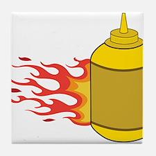 Mustard Bottle Tile Coaster