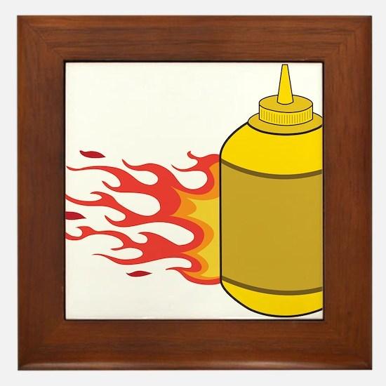 Mustard Bottle Framed Tile
