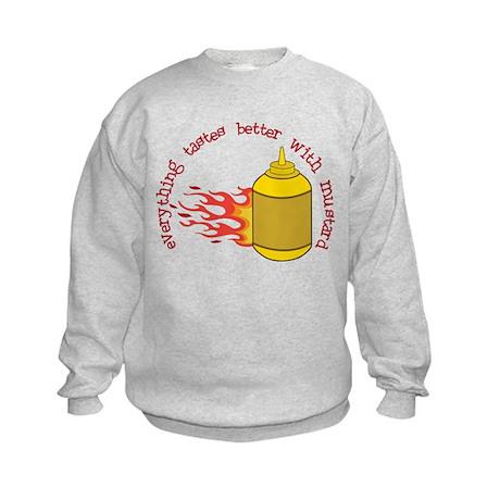Better With Mustard Kids Sweatshirt