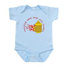 Better With Mustard Infant Bodysuit