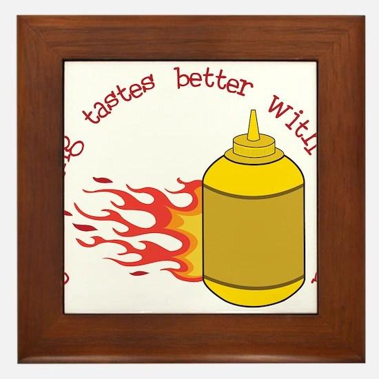 Better With Mustard Framed Tile