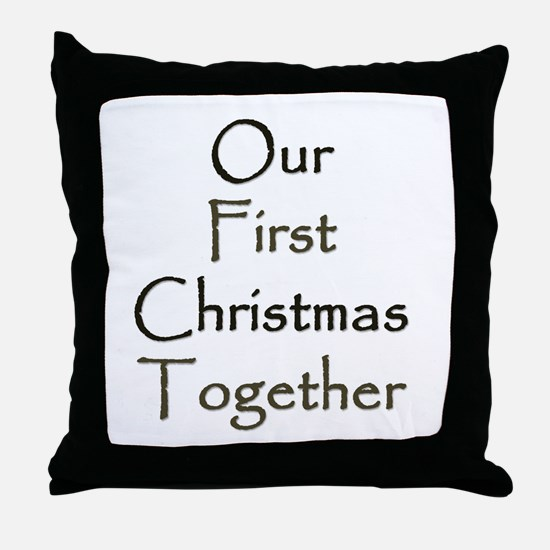 Our First Christmas Together Throw Pillow