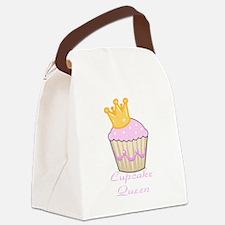 cupcake queen pink cuppycake Canvas Lunch Bag