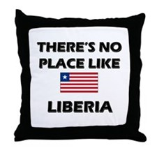 There Is No Place Like Liberia Throw Pillow