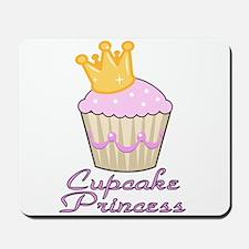 cute pink cupcake princess design Mousepad
