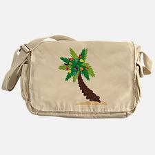 Christmas Palm Tree Messenger Bag
