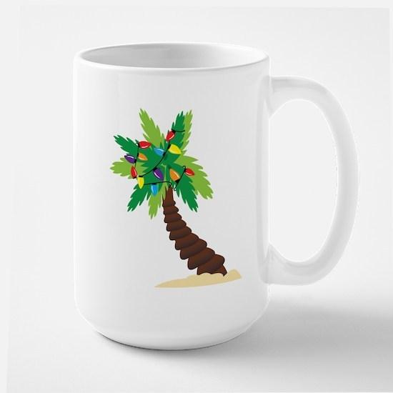 Christmas Palm Tree Large Mug
