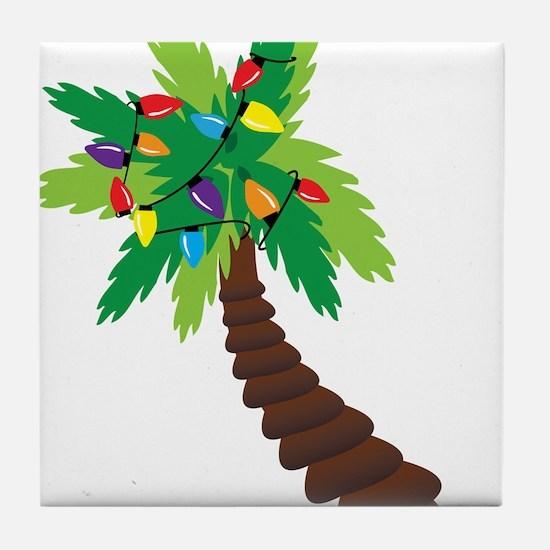 Christmas Palm Tree Tile Coaster
