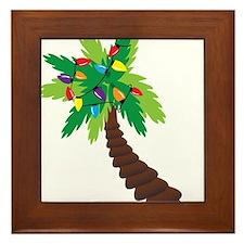 Christmas Palm Tree Framed Tile